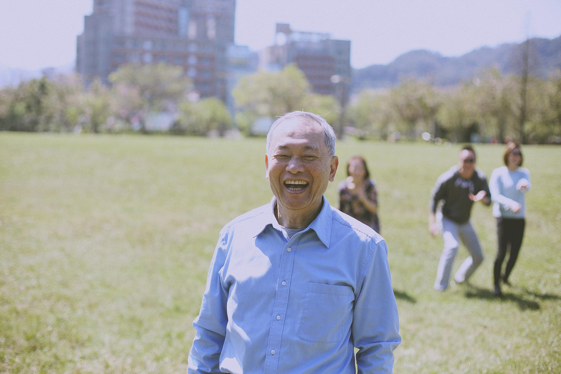 家庭寫真,親子寫真,台北大學,爺爺