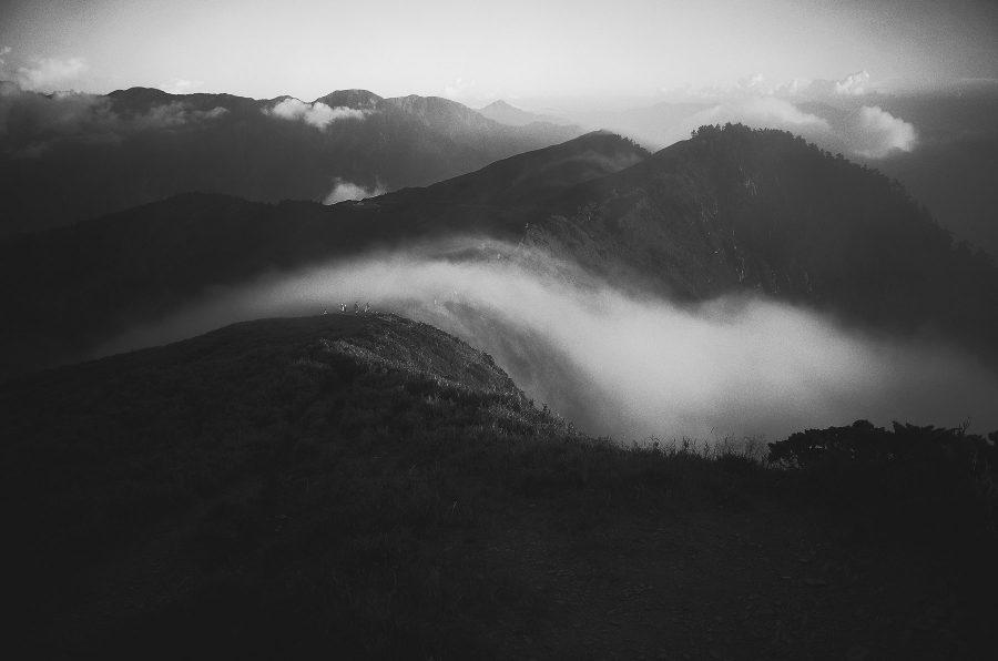 心象攝影,GR,心情,情緒,合歡山,雲瀑,黑白