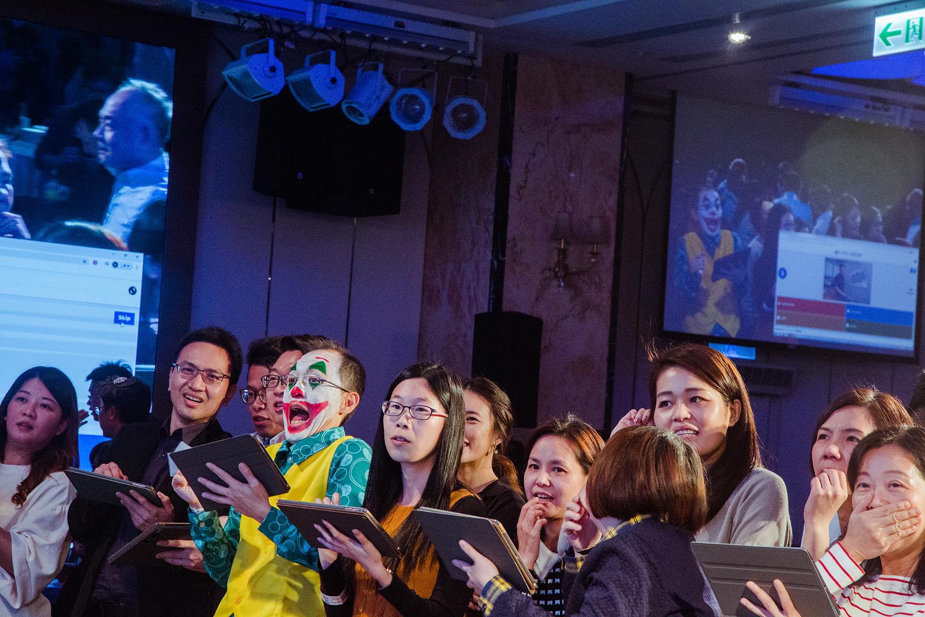 尾牙攝影,瞬間,小丑,台北,活動攝影,自然,京采飯店,