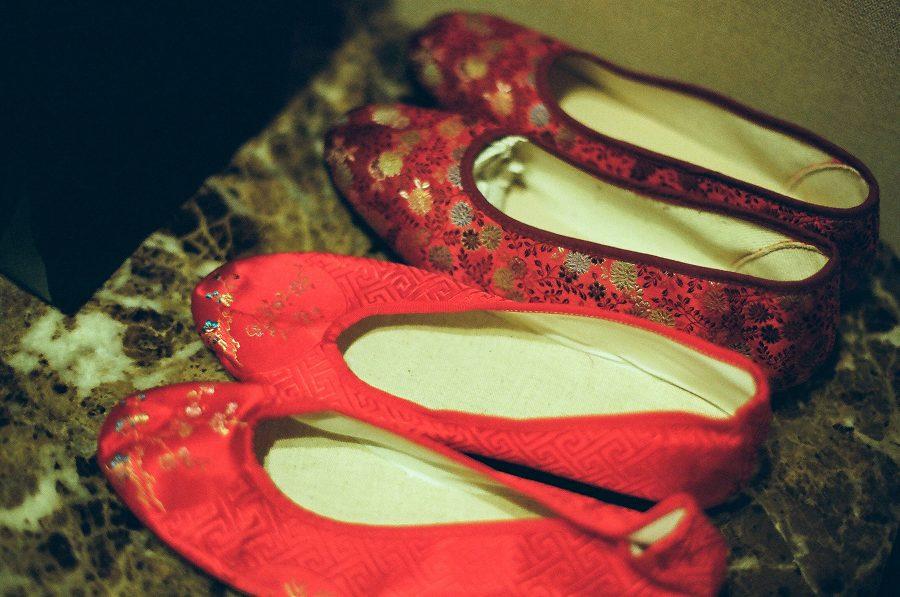 婚禮紀錄,婚禮攝影,婚鞋,紅鞋,底片